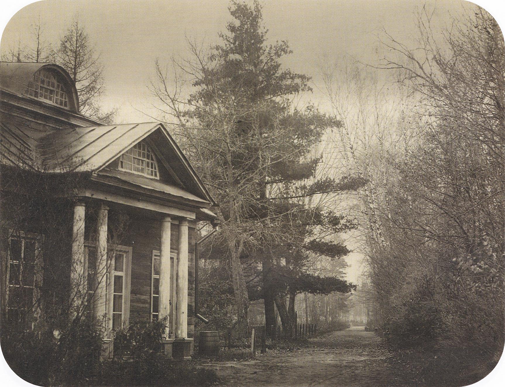 Портик южного докового фасада господского дома. 1865-1869