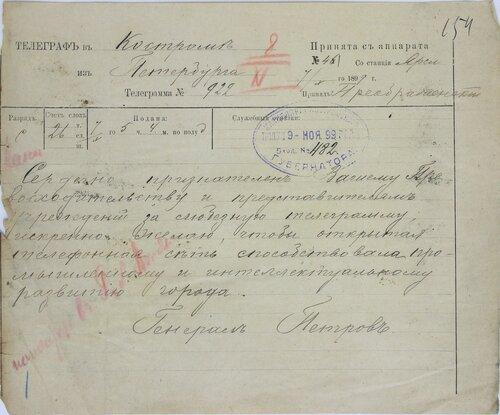 ГАКО. Ф. 133. Оп. б/ш. Д. 2353. Л. 154