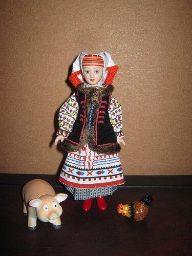 Куклы в народных костюмах №74 Кукла в женском костюме Львовской губернии