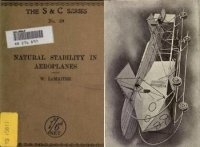 Книга Natural stability and the parachute principle in aeroplanes.