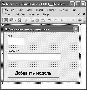 Рис. 3.16. Форма для добавления новой модели техники