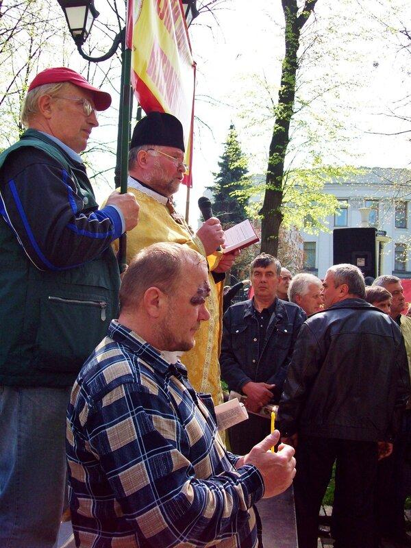 Молебен за погибших ликвидаторов аварии на ЧАЭС