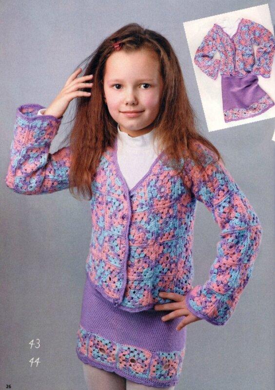 схемы вязания кофт для девочек.