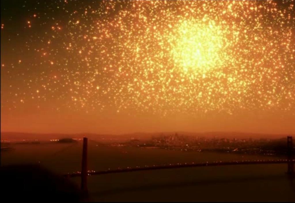 Как выглядело бы ночное небо, если бы Земля находилась /около огромного звездного скопления