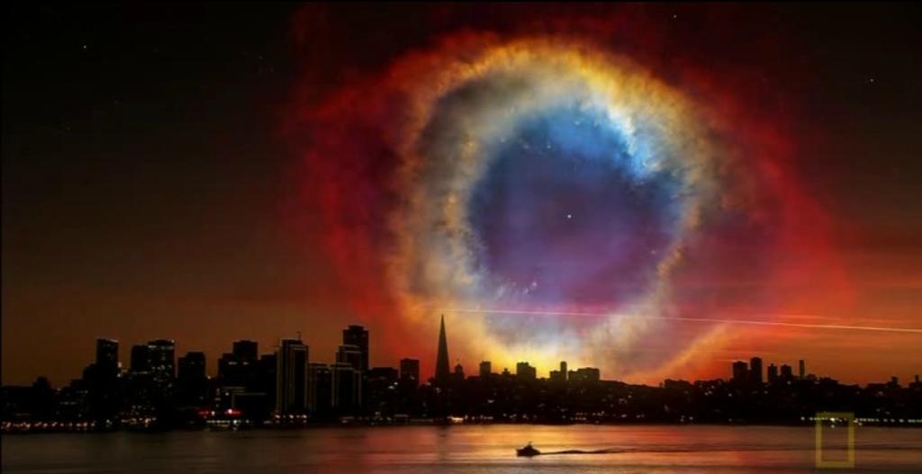 Как выглядело бы ночное небо, если бы Земля находилась совсем рядом с туманностью Улитка