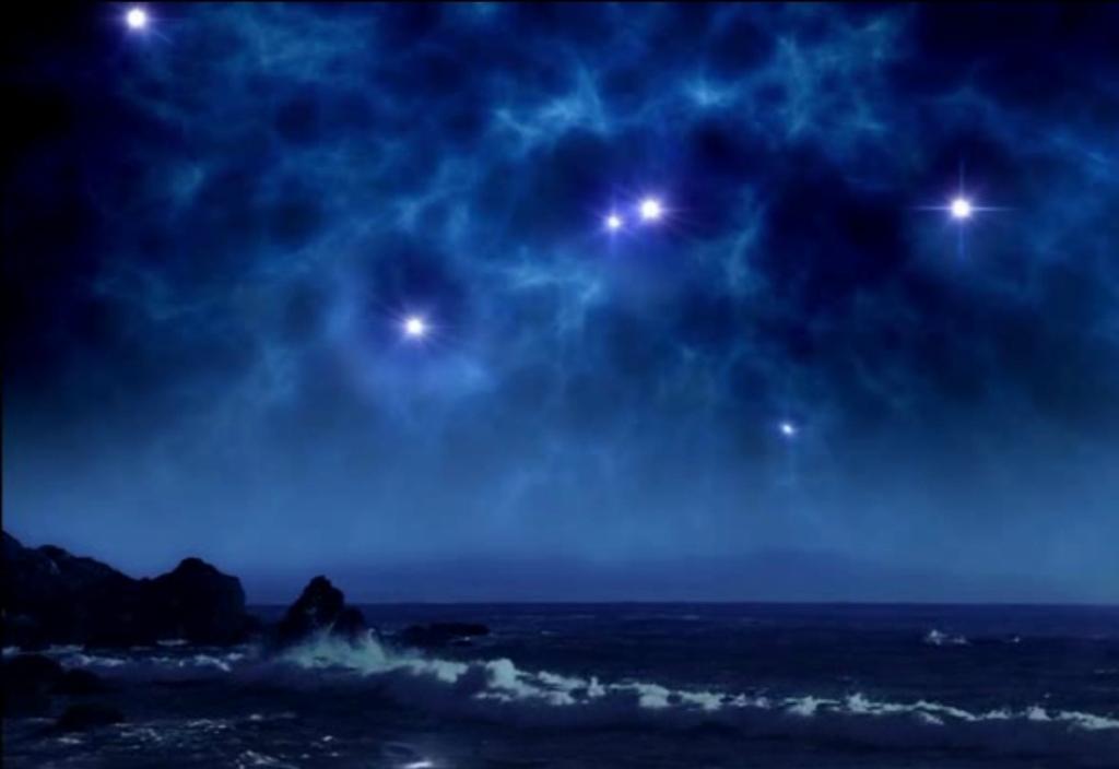 Как выглядело бы ночное небо, если бы Земля находилась рядом с небольшим скоплением молодых звезд
