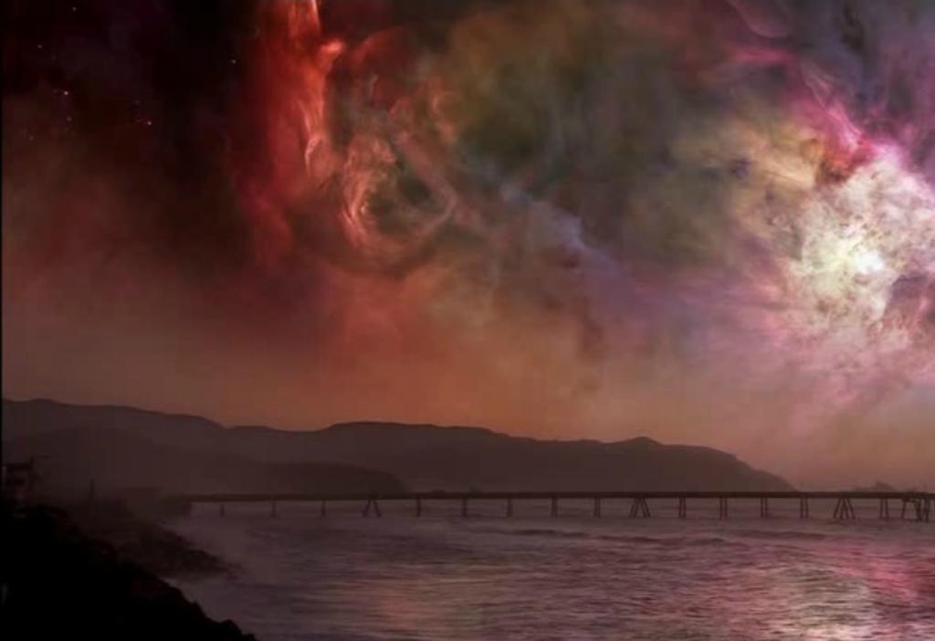 Как выглядело бы ночное небо, если бы Земля находилась рядом с огромным газовым облаком