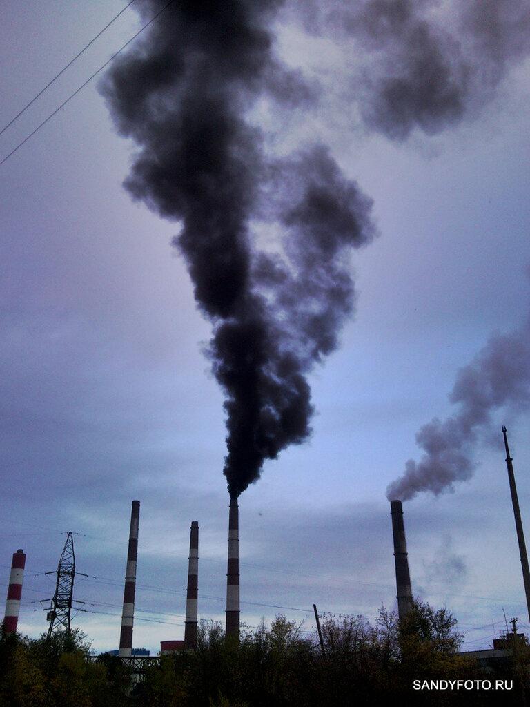 Троицкая ГРЭС — дымящие трубы #3