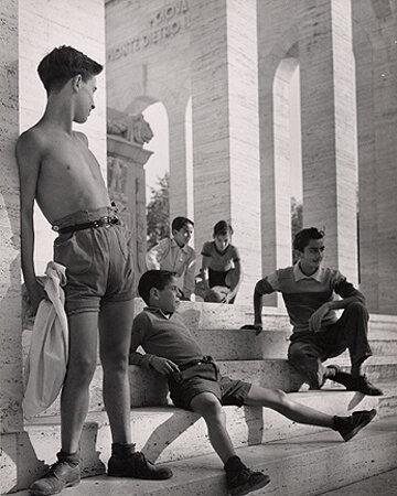 Boys, Rome, 1951