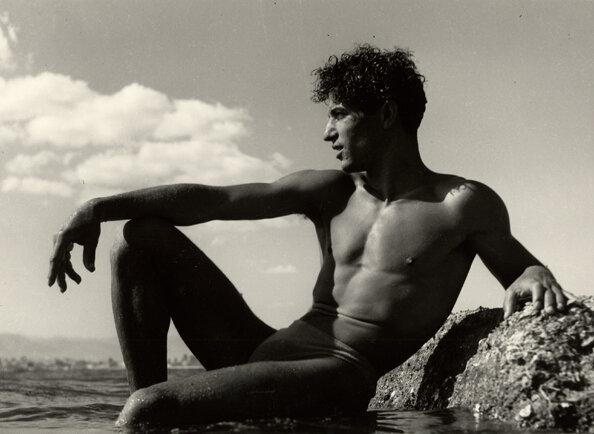 Young Man on a Rock, Liguria, 1936