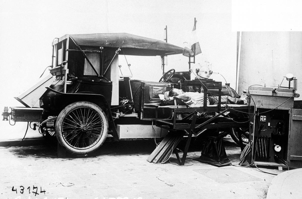 Мобильный рентгенкабинет, принадлежавший французской армии (1914 год) (24)