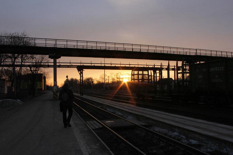 Восход на станции Великие Луки