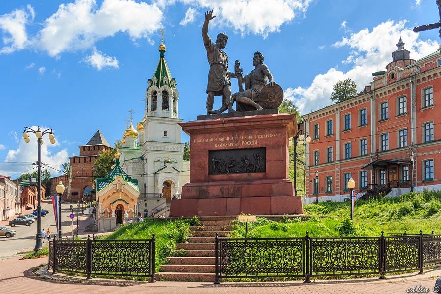 Нижний Новгород, площадь Народного Единства, памятник Минину и Пожарскому