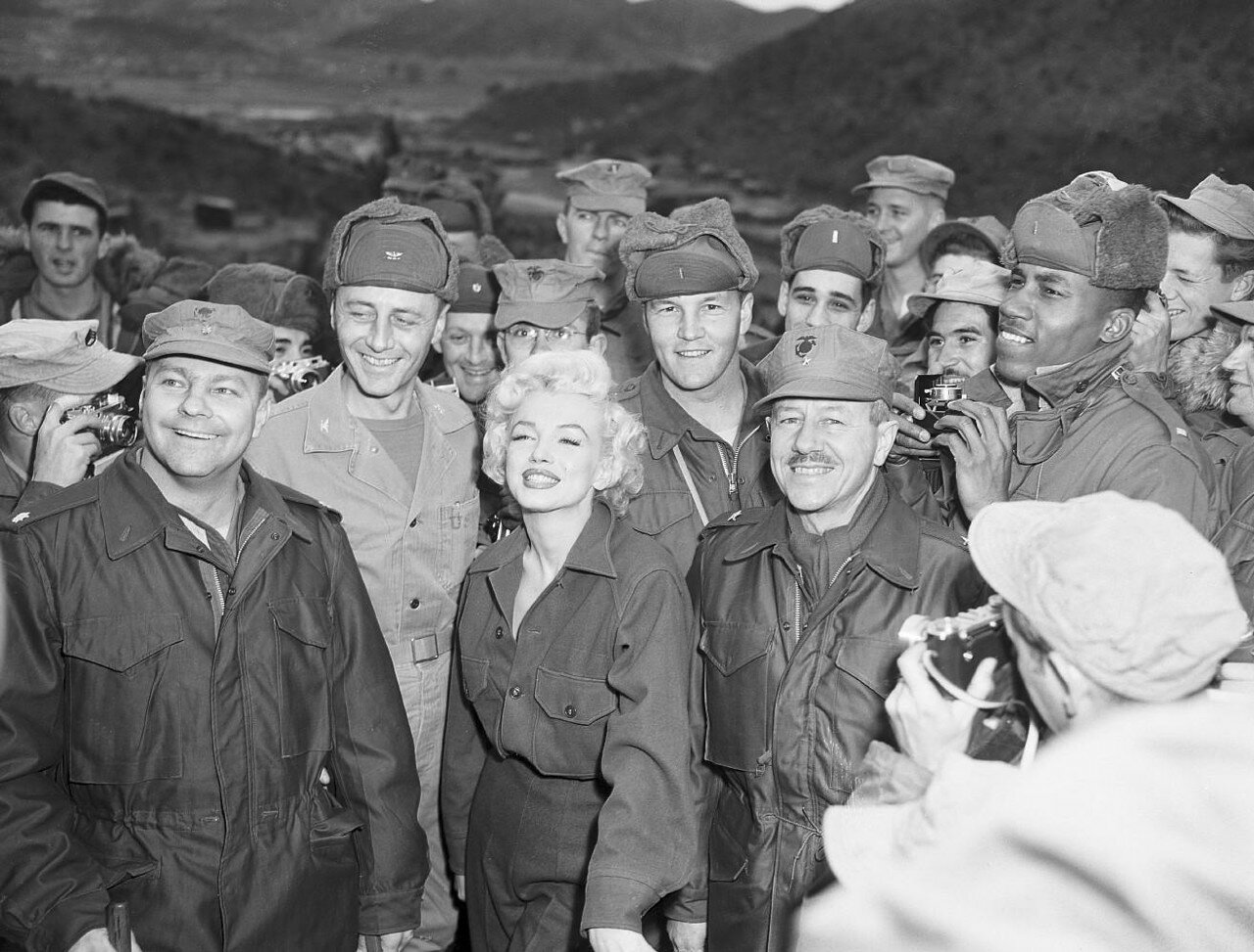 Marilyn Monroe with the Marines