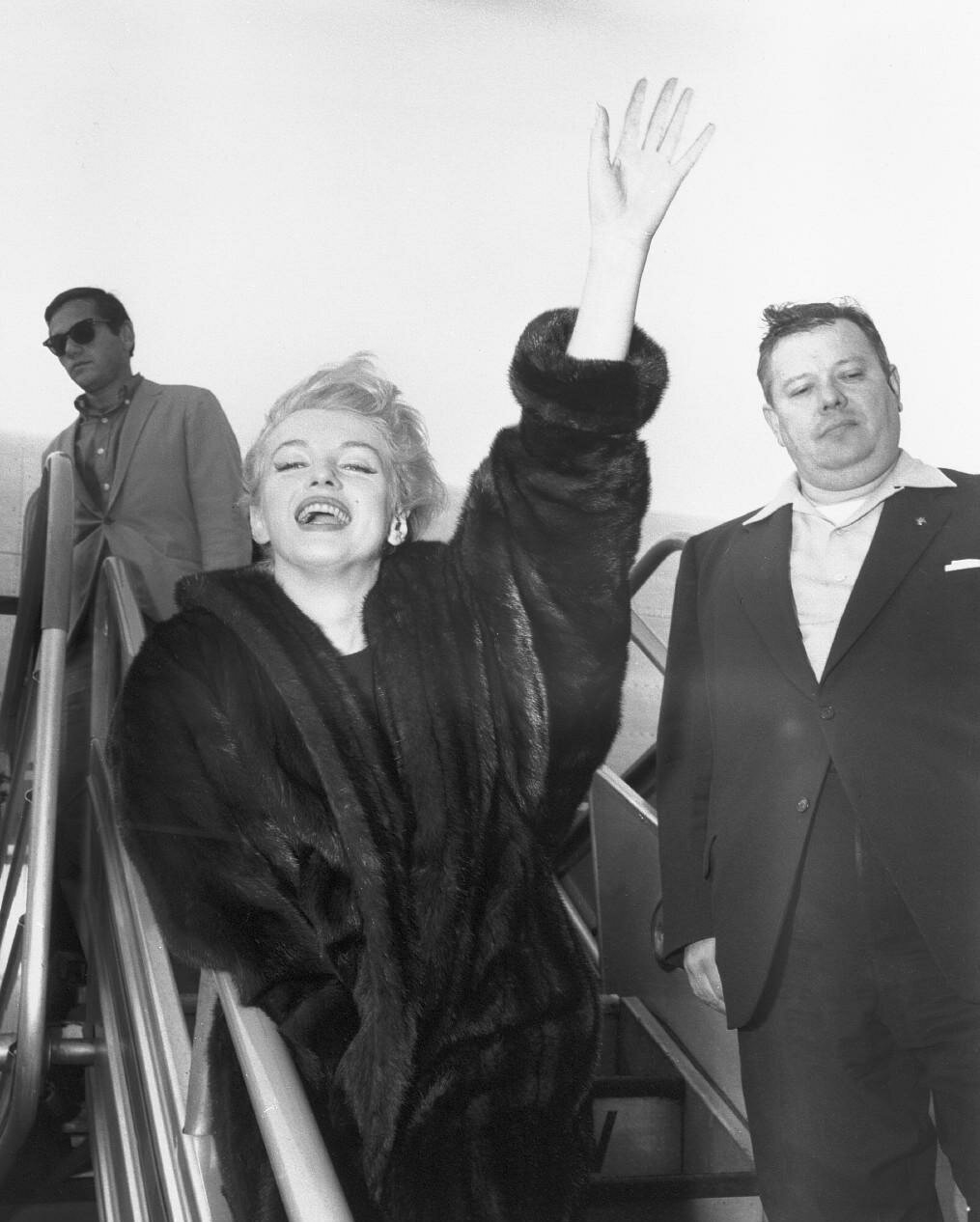 Actress Marilyn Monroe Waving to Crowd