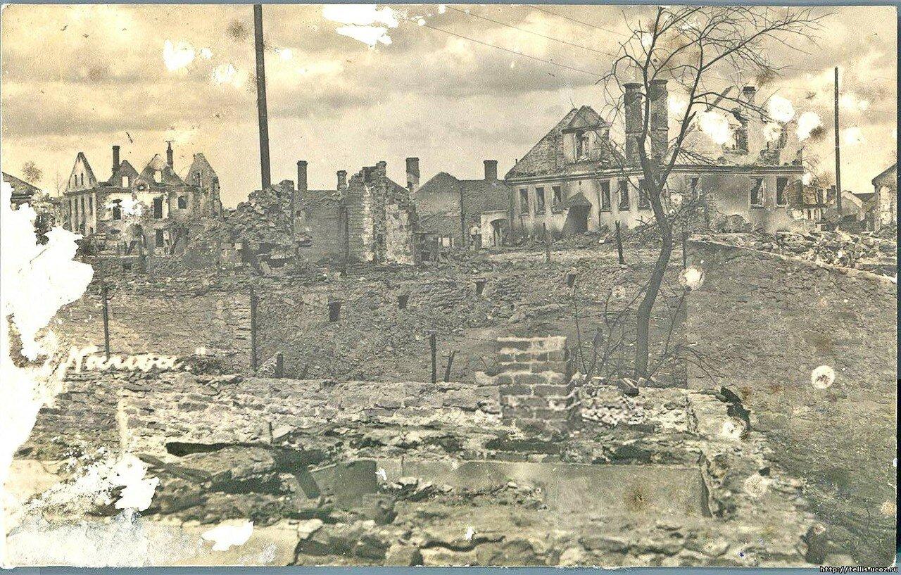 Нарва 1919 год, после артиллерийской бомбардировки