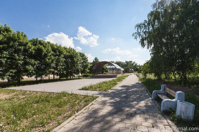 Зона парковой архитектуры в Горках