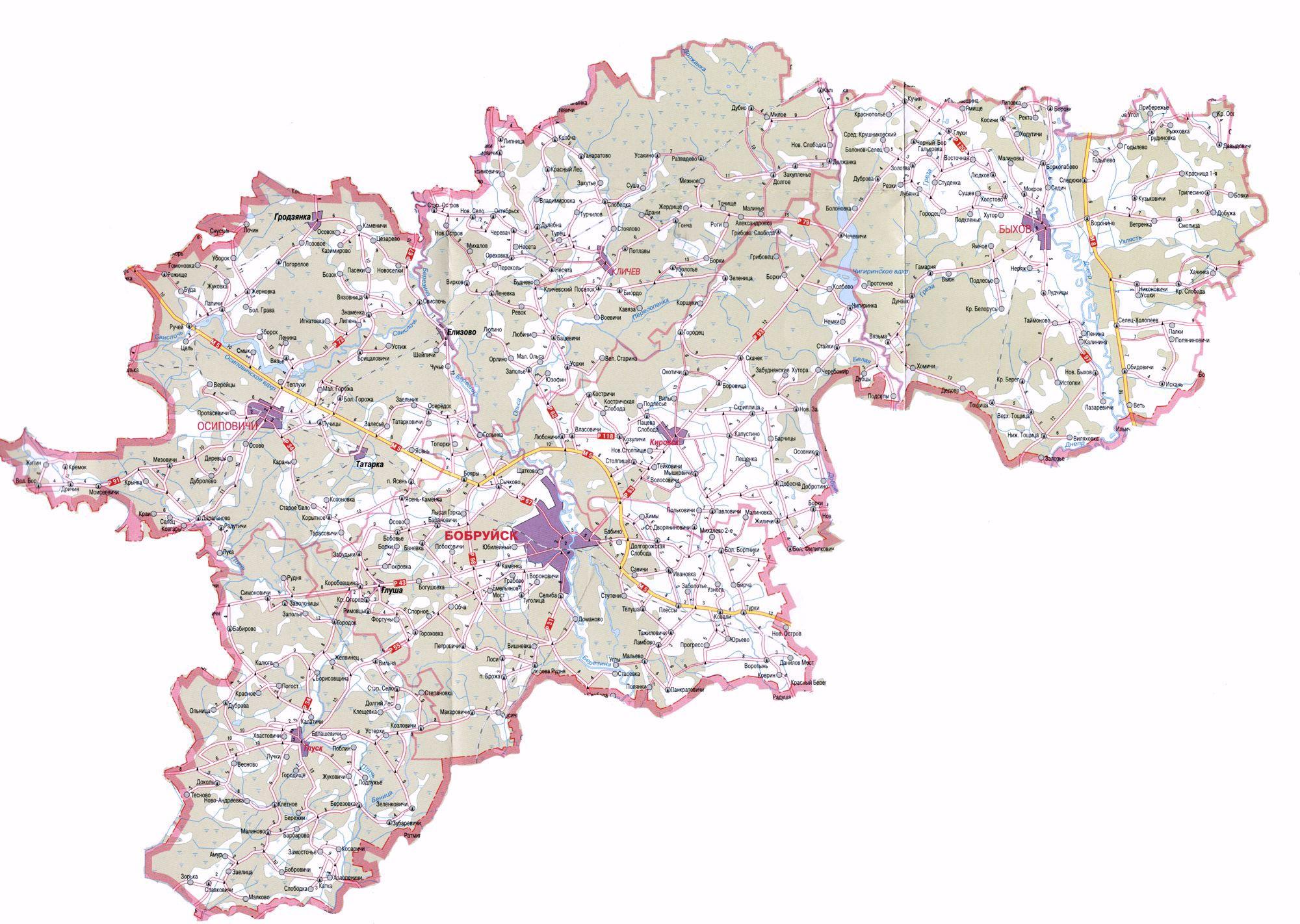 Карта бобруйской епархии