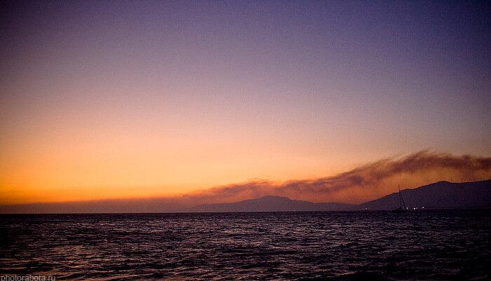 закат на рейде в Тарифе