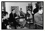Théo Sarapo, Charles Dumont, Jean Noli, journaliste et biographe, Francis Lai, Edith Piaf et son pianiste Noël Camaret 1963