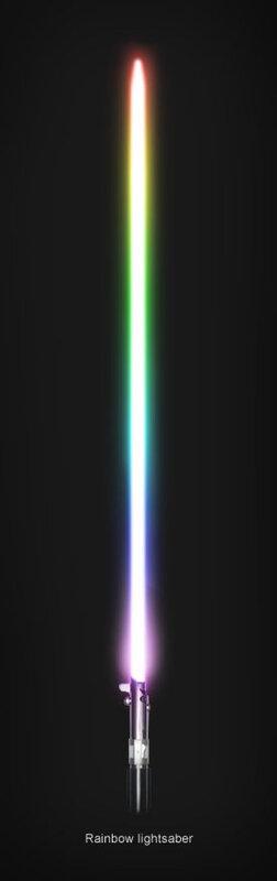 Rainbow Lightsaber