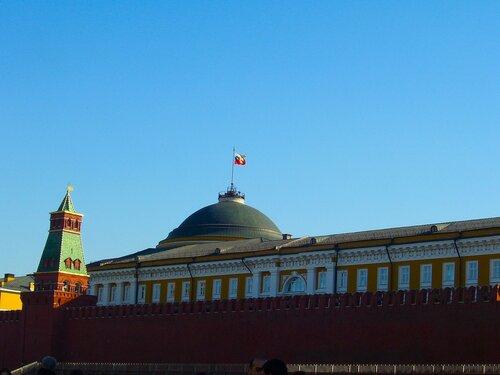 Российский флаг. Красная Площадь