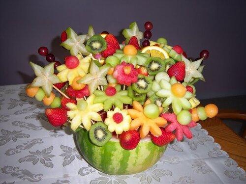 Как своими руками сделать букет из фруктов