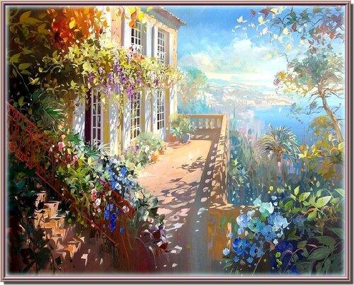 Творчество Лорана Парселье (Laurent Parcelier).                           Картина, написанная солнечными зайчиками.