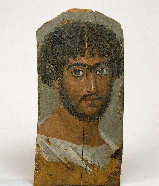 Mummy Portrait of a Bearded Man. Walters Art Museum