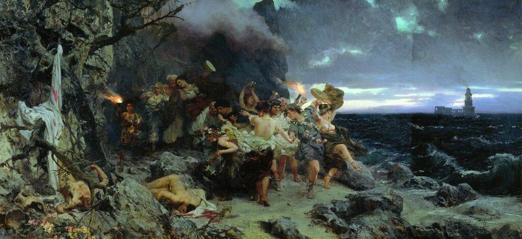 Оргия времен Тиберия на острове Капри. 1881  СемирадскийГенрих Ипполитович