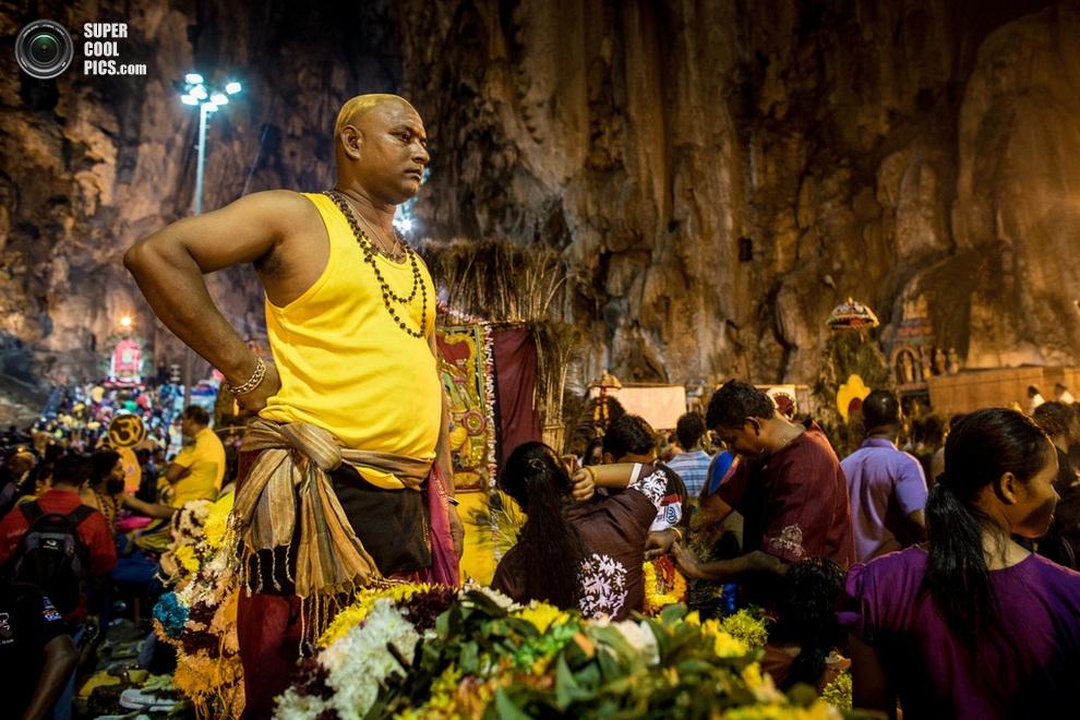 Тамил оглядывает толпу. (Chris McGrath/Getty Images)