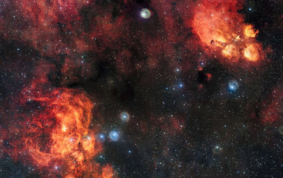 11. Галактика Треугольника — спиральная галактика типа Sc в созвездии Треугольника. Третья по