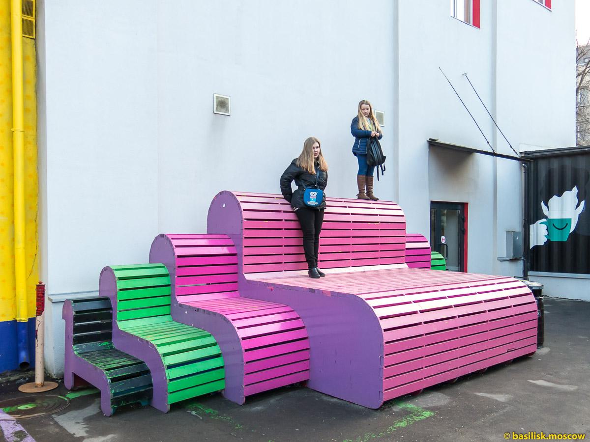 Фестиваль цветного дыма. Дизайн-завод Флакон. 8 марта 2017