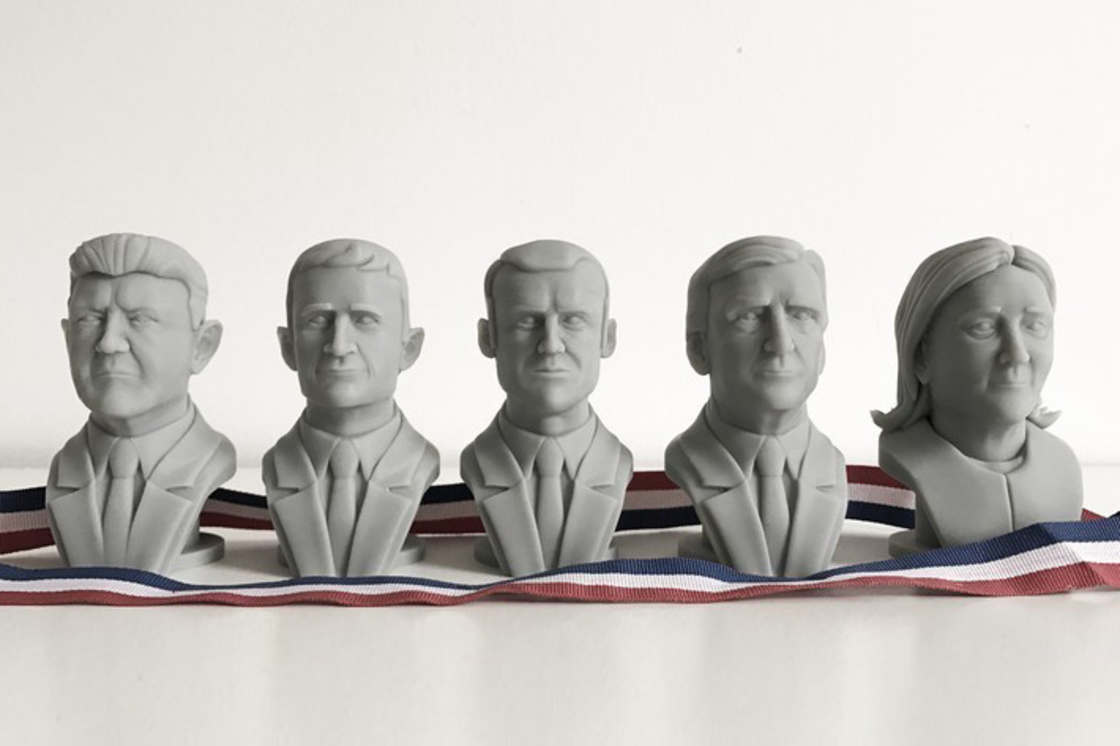 French Presidential 2017 – 3D printing your favorite candidates (14 pics)