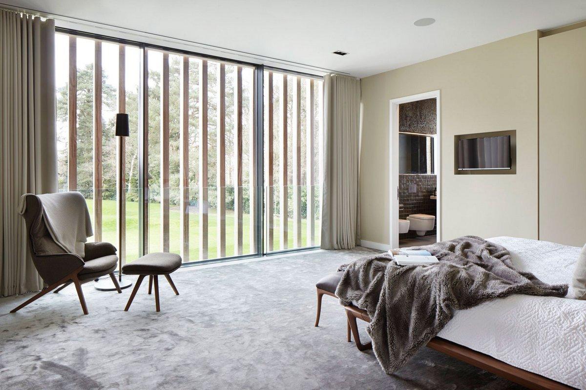 современный интерьер спальной комнаты