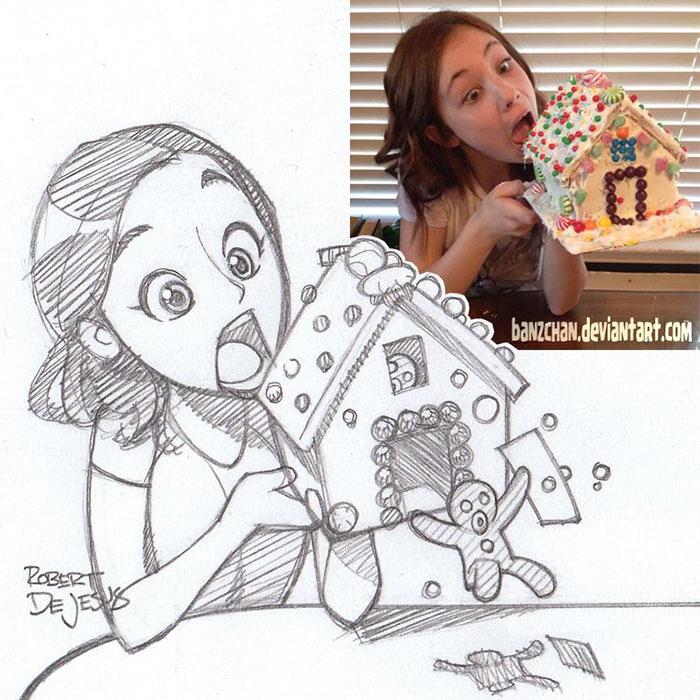 Ilustrador transforma pessoas em animes