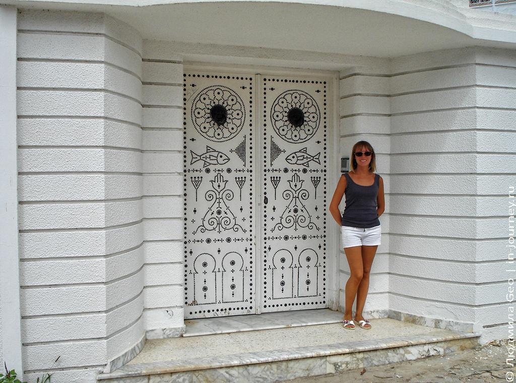 красивая дверь и я в Хаммамете