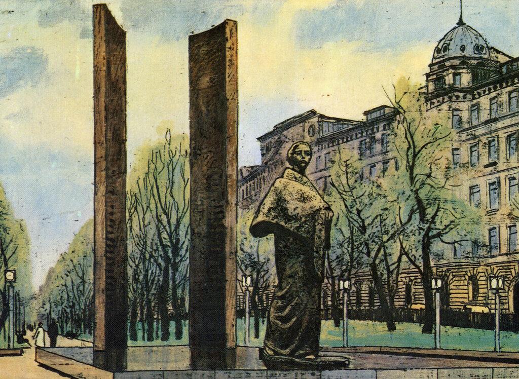 587168 Сретенский бульвар. Памятник Н. К. Крупской.jpg