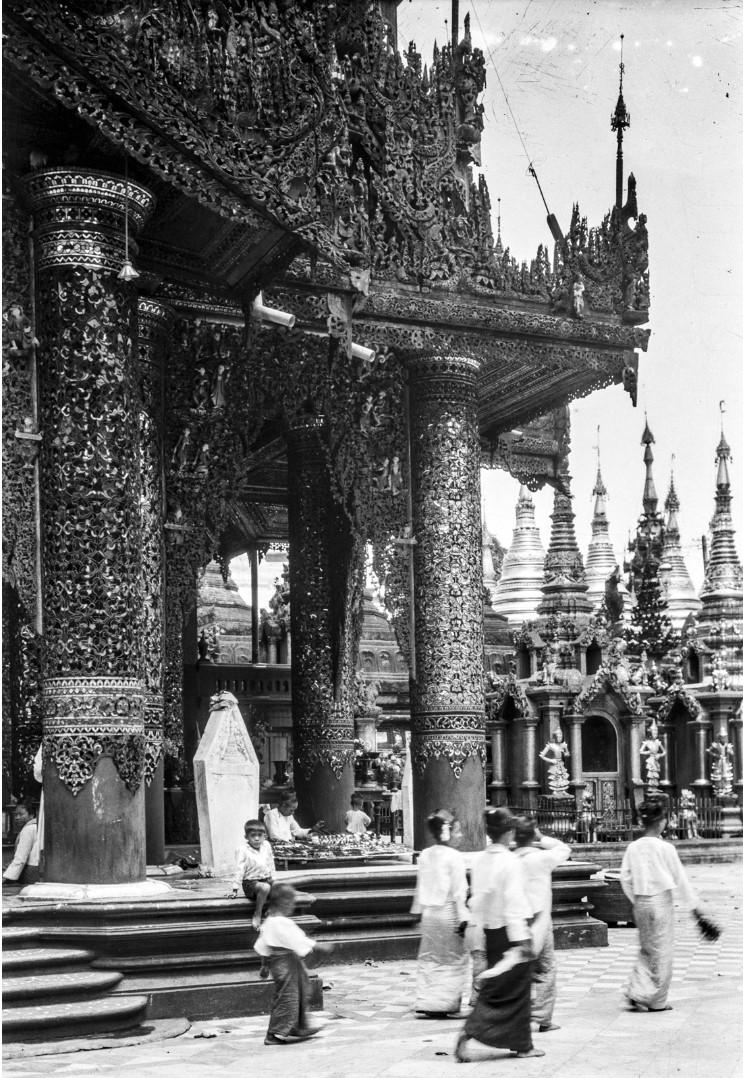 836. Рангун. Пагода Шведагон, Восточный храм