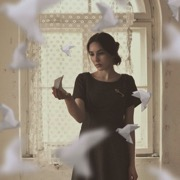 девушка и оригами
