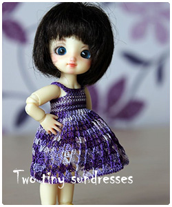 two tiny sundresses for brownie and pukipuki