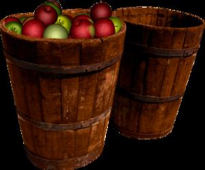 яблоки в кадушках