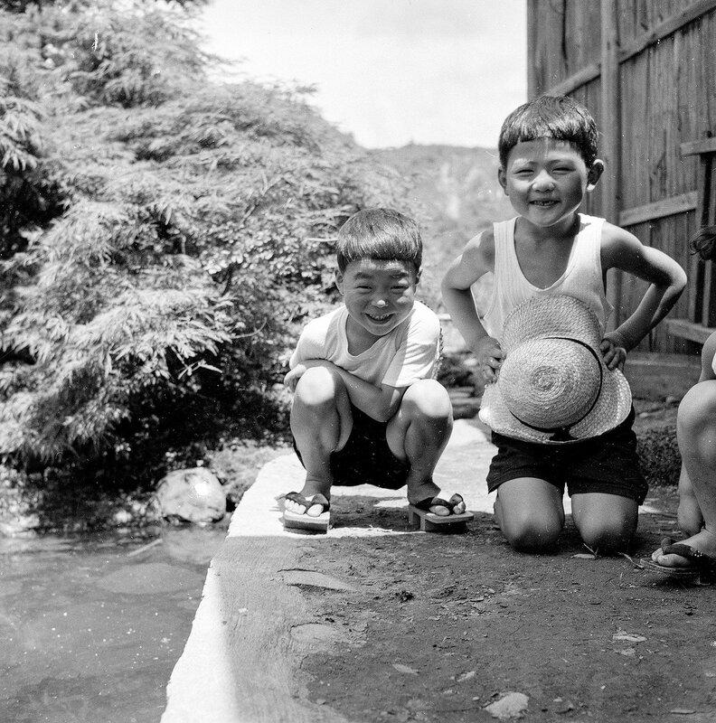 Smiling 1950s Japanese Boys