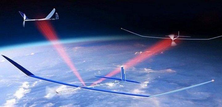 Компания Google работает над дронами на солнечных панелях, раздающими сверхскоростной Интернет в про