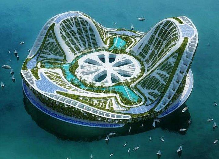 Плавающий экополоис, названный Lilypad, был предложен архитектором Винсентом Каллеба (Vincent Calleb