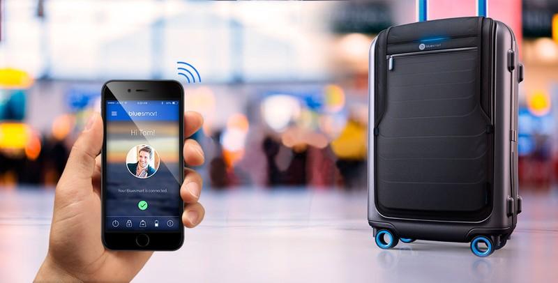 18. Высокотехнологичный чемодан Чемодан со встроенным GPS-модулем для определения его местоположения