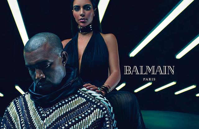 Ким Кардашьян и Канье Уэст в рекламной кампании Balmain