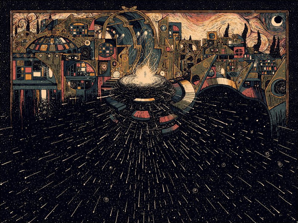 Спиралевидные психоделические картины James R. Eads