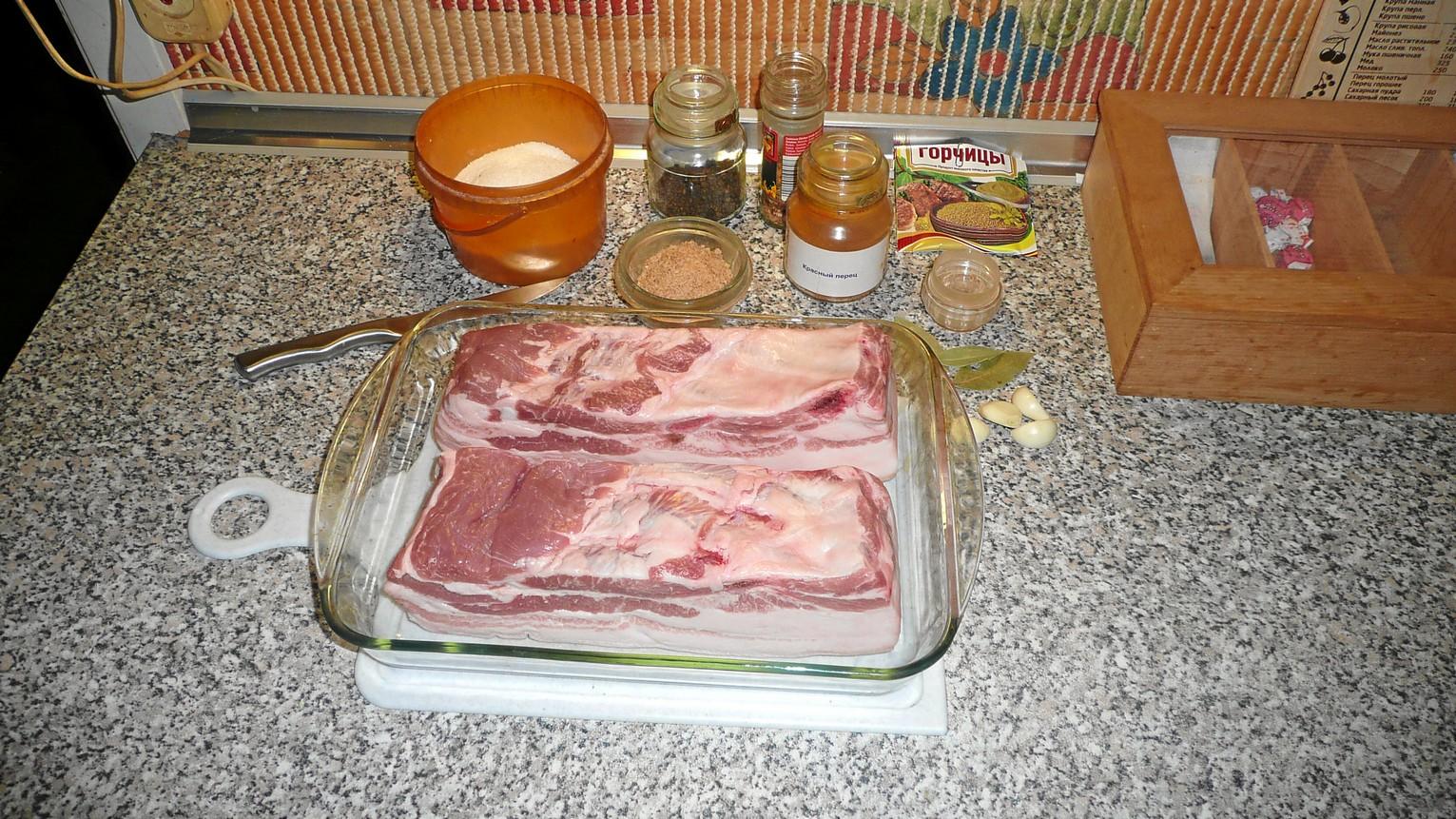 Маринованное сало рецепт пошагово
