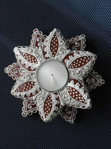 Рождественский декор из имбирного печенья
